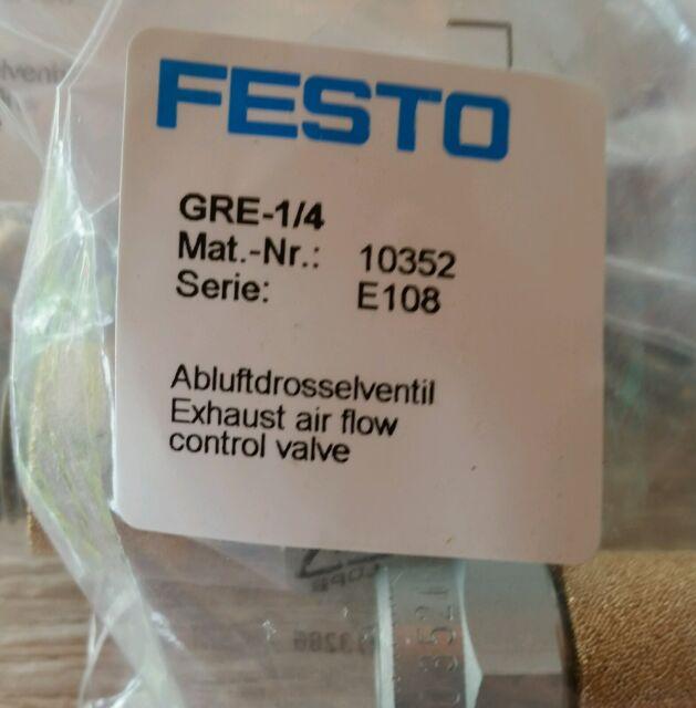 Festo aria di scarico valvola a farfalla gre-1//4 mat.nr.10352 NUOVO OVP serie e108
