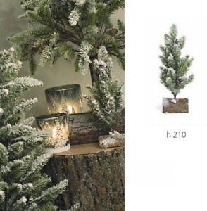 Albero Di Natale Con Foto.Pino Albero Di Natale Natalizio Verde Innevato Con Base Tronco Articolo Decorati Ebay