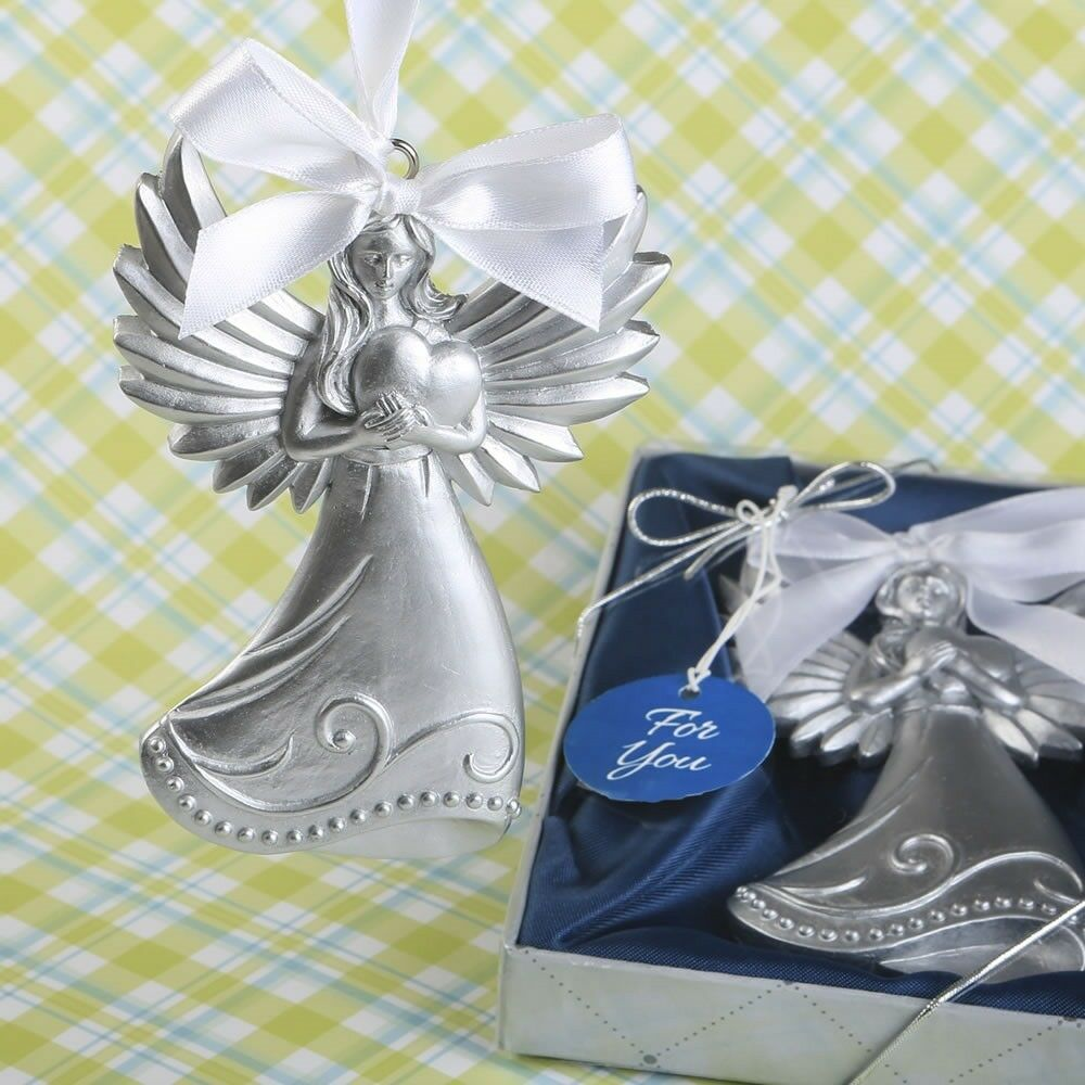20 Guardian Angel Wing Ornament Baptism Shower Christening Religious Party Favor