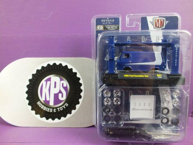 M2 Machines 1965 Ford Eclonoline Van Blue Model-Kit R31 1:64 6000 Bad package