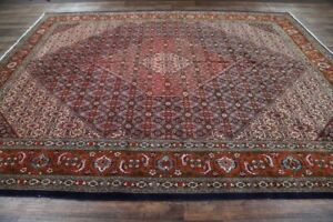Spectacular-Large-Geometric-Tabriiz-Oriental-Area-Rug-Hand-Knotted-WOOL-10x13