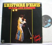 JOHNNY FARAGO Histoire d'Elvis Presley NM- CANADA QUEBEC 1977 Place des Arts LP