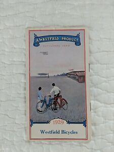 Vintage 1929 Westfield Bicycles Brochure Pope Mfg