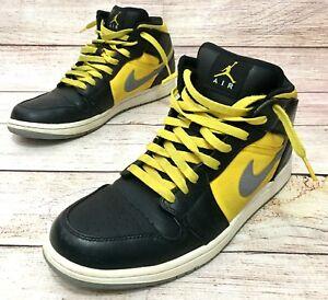 timeless design 7b663 6f26a Nike Air Jordan 1 Retro Phat Basketball Shoes Black Yellow 364770 ...