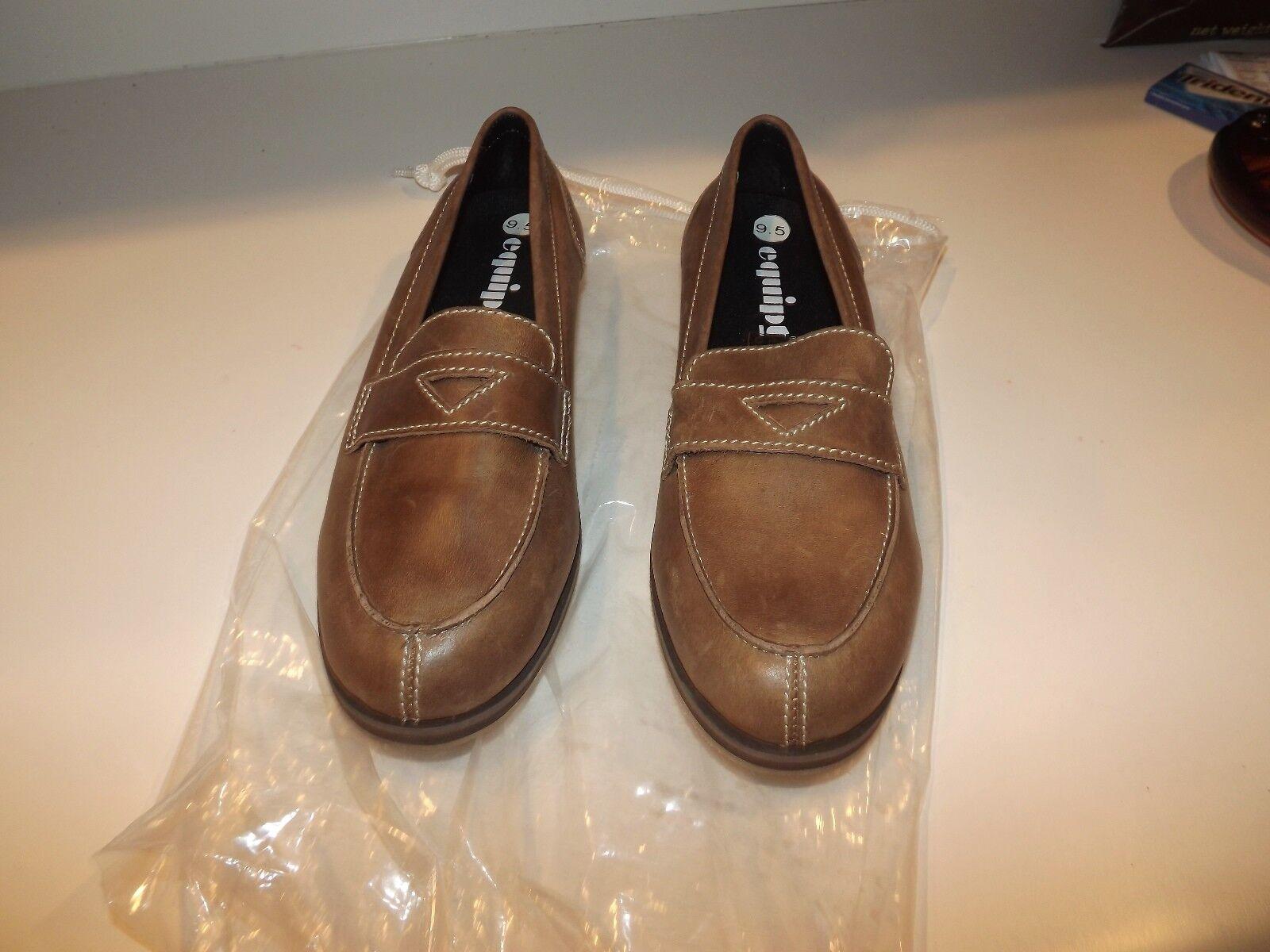 EQUIPT para jugar Mocasines zapatos señoras tanish Marrón Cuero Talla Talla Talla 9.5 Nuevo Viejo Stock  Envío rápido y el mejor servicio