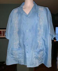 Mexican Wedding Shirt.Details About Original Haband Guayabera Mens Button Up Cigar Cuban Mexican Wedding Shirt 3x