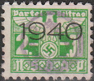 Stamp Germany Revenue WWII 3rd Reich War War Era Labor 1940 G 02 30 Used