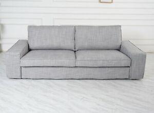 Handmade-Cover-fits-IKEA-Kivik-Sofa-series-Match-Isunda-Gray-Color-Cover