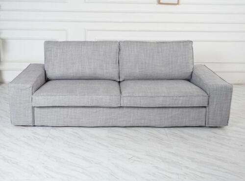 Match Isunda Gray Color Cover Handmade Cover fits IKEA Kivik Sofa series