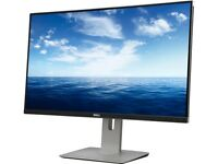 Dell U2715h Black 27 2k Widescreen Lcd Ips Monitor, 2560 X 1440, 1000:1, 350cd/