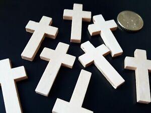 CRUZ-32 De 15 a 120 Colgantes Madera CRUZ collares abalorios cruces madera
