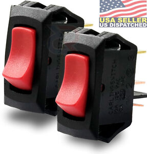 ROCKER CARLING TECHNOLOGIES LRA211-CR-B//125N SWITCH RED SPST 250V 1 piece 16A