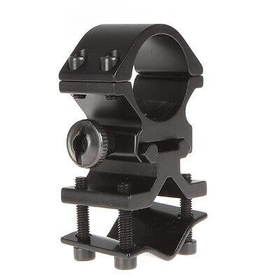 Adjustable Scope Mount Holder Metal Clip Clamp for 25mm Flashlight Torch
