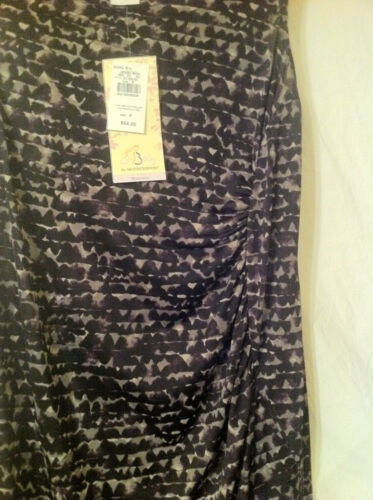 M L Motherhood Maternity: Ruched Side Dress: Prple//Gry Brushstroke Sizes S XL