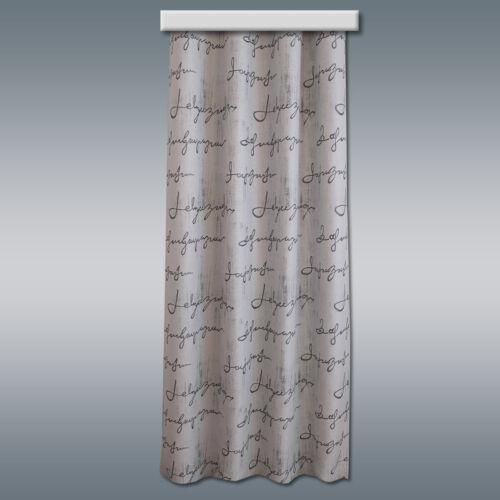 Dekoschal Ivo Vorhang mit Reihband grau gemustertHöhe kürzbar nach Wunsch