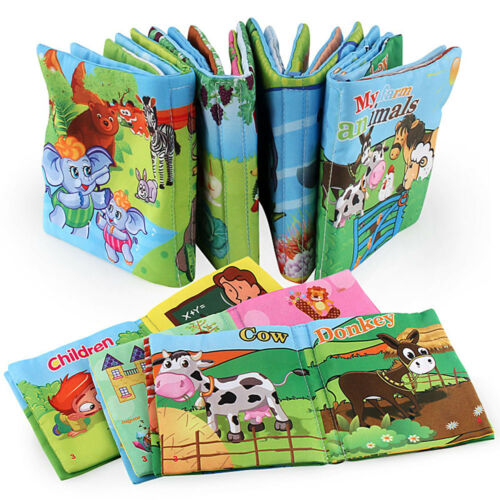 Intelligence Development Soft Cloth Fabric Cognize Book Education BB Sound Baby