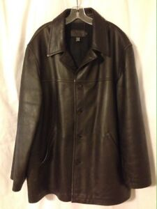 J Crew Chocolate Dark Brown Leather Long Jacket Car Coat