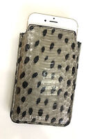 Paul Smith Snakeskin Iphone 6 Case / Business Card Holder Leather Wallet