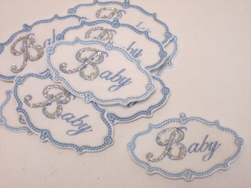Set of 10 Embroidered Baby Photos Arts Crafts Card Making Motifs Patches #12D212