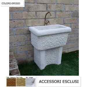 Lavatoio da esterno lavatoio per esterno in pietra dordogna cm60x40x74h ebay - Lavatoio in pietra da esterno ...