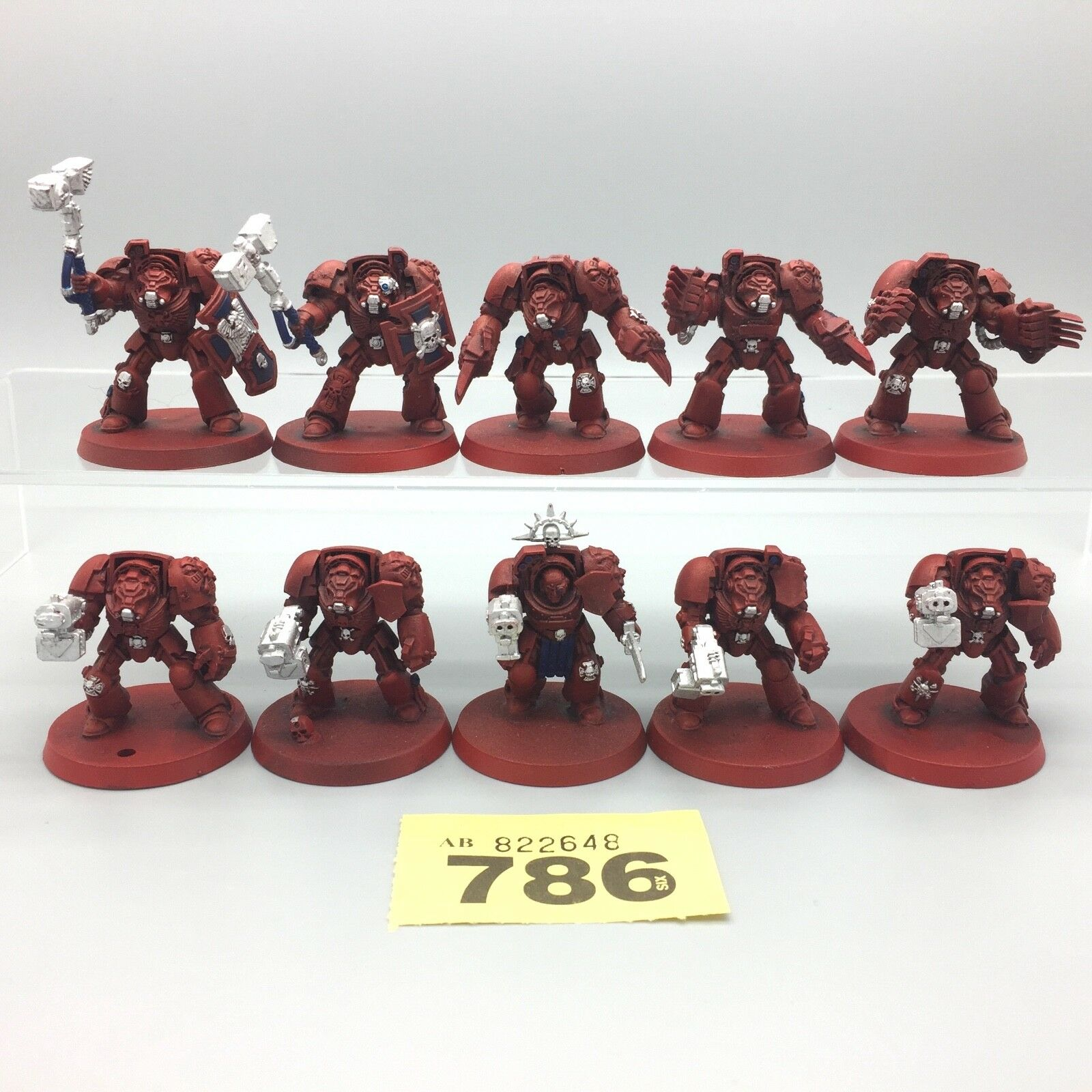 Warhammer 40,000 40K Espace Marines Adeptus Terminator Équipe X 10
