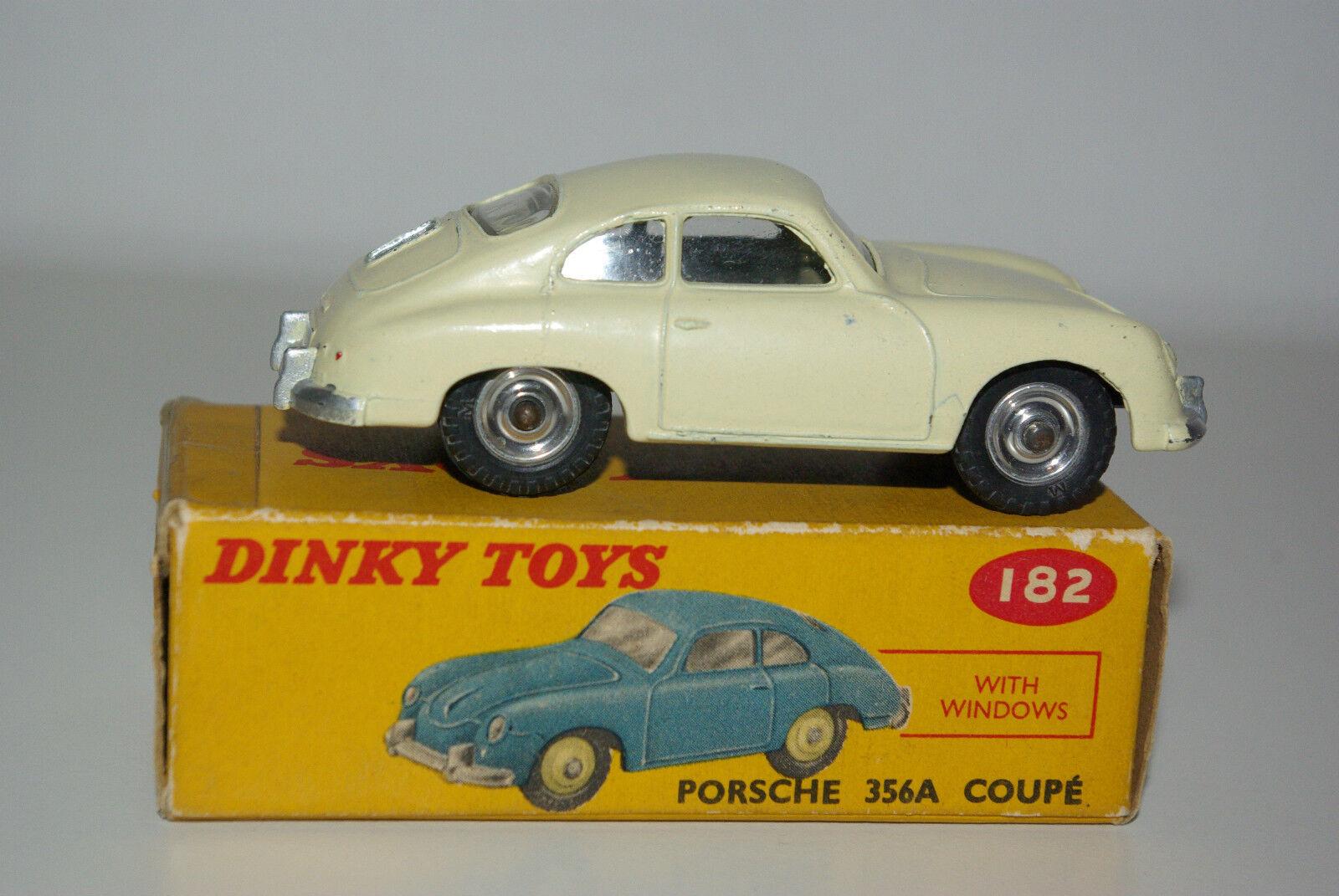 P DINKY TOYS 182 PORSCHE 356 356 356 A COUPE CREAM SPUN NEAR MINT BOXED RARE SELTEN RARO 222dd0