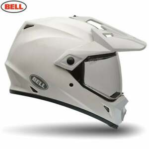Bell-Adultes-MX-9-Adventure-Mips-Dual-Sport-Moteur-Casque-Velo-Blanc-Solide
