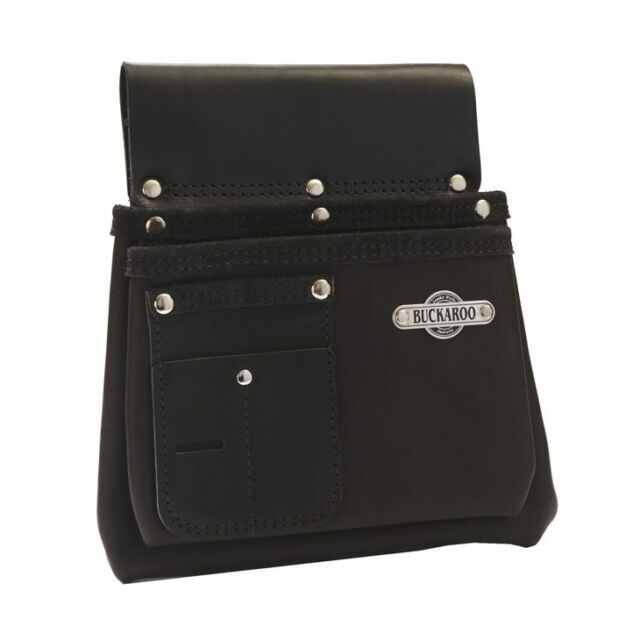Buckaroo 2 Pocket Nail Bag Black Nbs2b