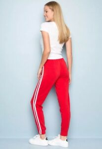 select for official big discount of 2019 fashion style of 2019 Details about brandy melville red/white stripe pull-up fleece rosa  sweatpants NWT sz S
