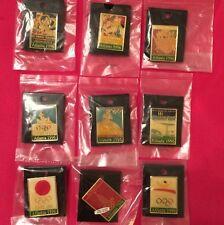 Lot/ Set of 9 Olympic Pin Badge~Poster Pin~1996 Atlanta~NEW on CARD~20 yr old!!!