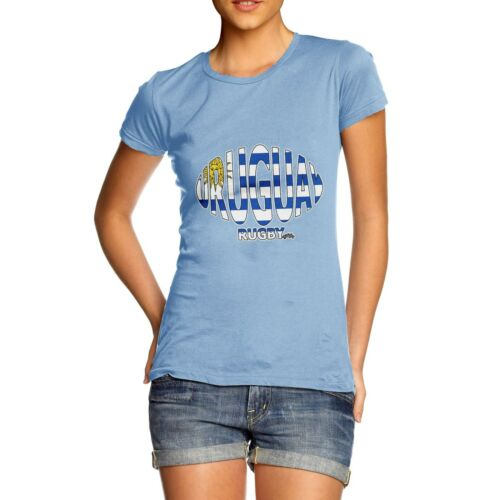 Twisted Envy Women/'s Uruguay Rugby Ball Flag Funny Cotton T-Shirt