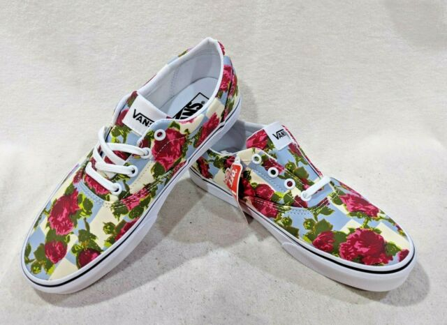 VANS Womens Checker Floral Skate Shoes
