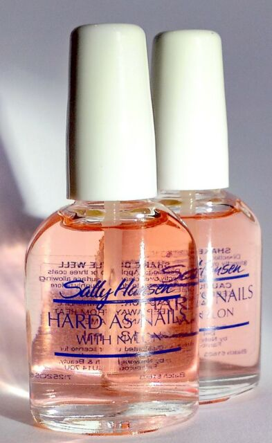 2 X Sally Hansen Hard As Nails with Nylon Natural 13.3ml - FREE DELIVERY