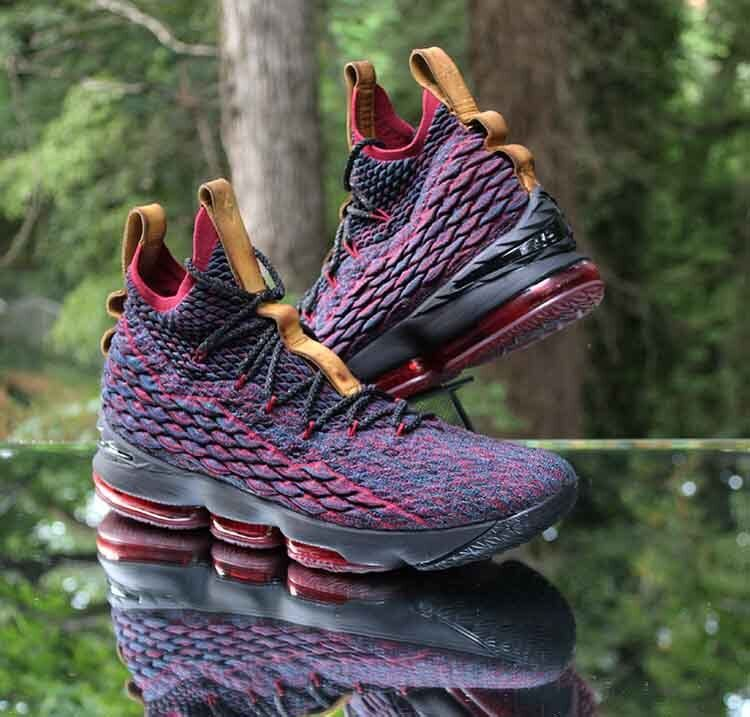 Nike LeBron 15 New Heights Dark Atomic Teal Black Red 897648-300 Men's Comfortable The latest discount shoes for men and women