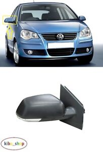 Door Wing Mirror Manual Black Left Side N//S Vw Polo 2005-2009 New High Quality