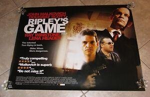 RIPLEY'S GAME movie poster JOHN MALKOVICH, DOUGRAY SCOTT