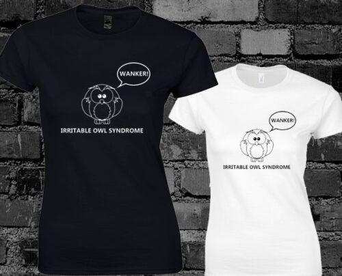 Irritable Owl Syndrome Ladies T Shirt Funny Rude Slogan Joke Explicit Content