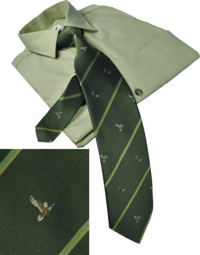 Ente Jagdkrawatte Schlips Krawatte mit Jäger Hund