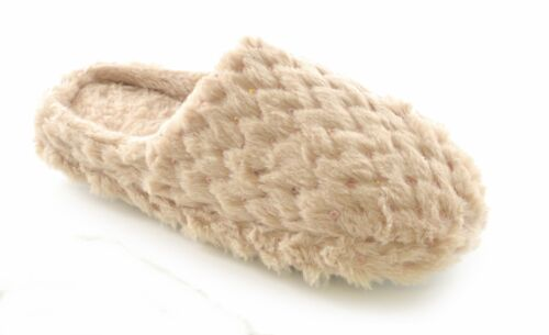 Ladies Faux Fur Slippers With Sequins