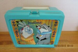 Hard Plastic Pocahontas Lunch Box & Thermos