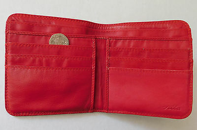 Red leather Tula wallet for ladies