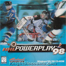 NHL POWERPLAY '98 Ice Hockey Classic Vintage Windows PC Game NEW