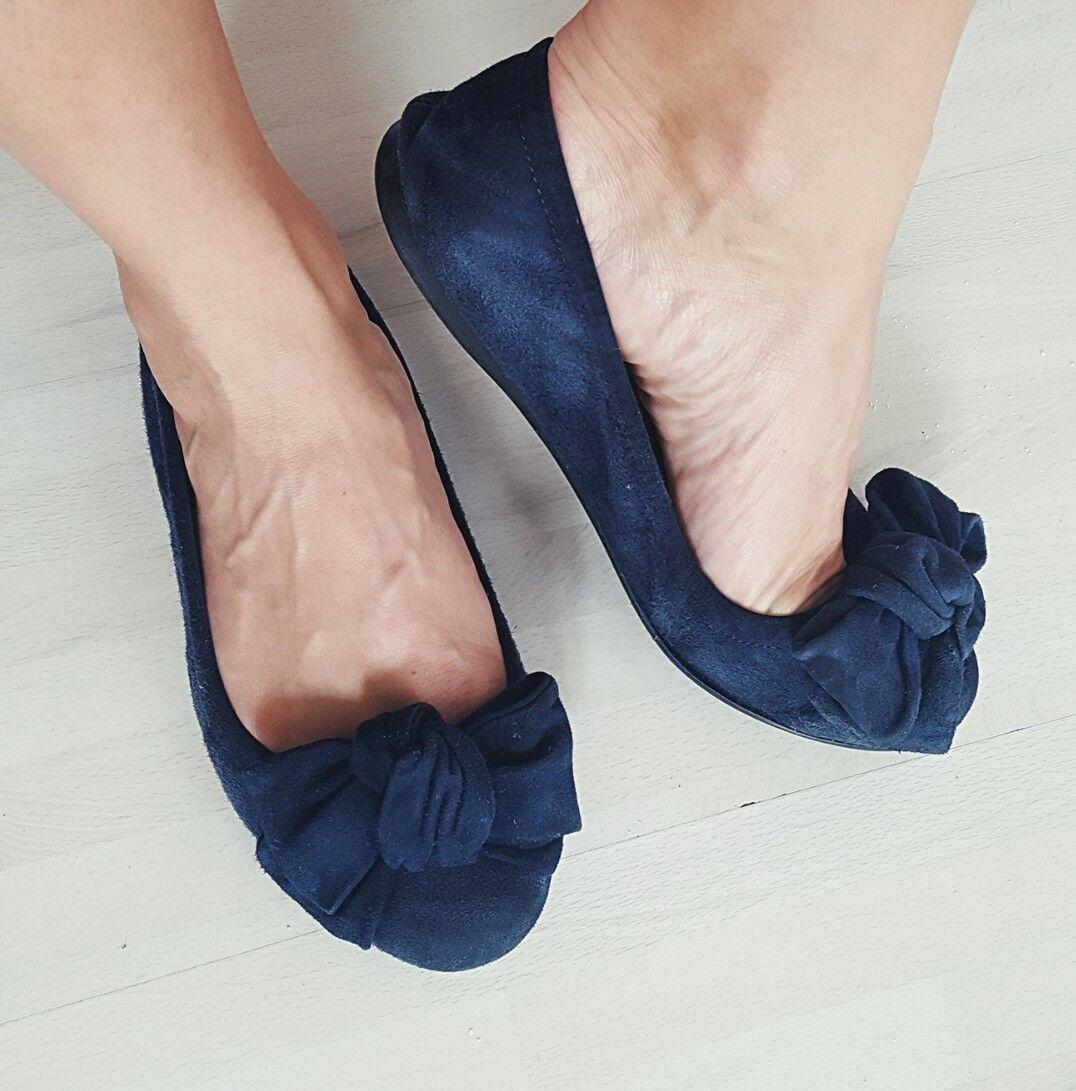 Balerinas 38 Blau 37,5 wildleder