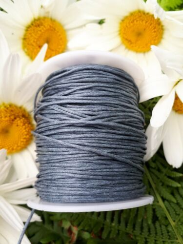 1mm Various Coloured Round Waxed Cotton Cord 5 10 /& 20 Metre lengths