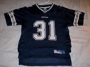 Roy Williams 31 Dallas Cowboys NFL Blue Reebok Scr Print Boy s Large ... e7448ceba