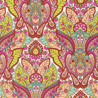By 1//2 Yard ~ Free Spirit Tula Pink Fabric ~ Slow /& Steady Tortoise Orange Crush