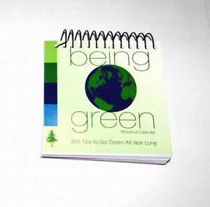 "Lot of 12 Pieces - Spiral Bound ""Being Green"" Perpetual Calendar"