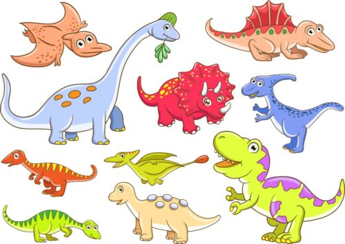 Dinosaur Animals Bedroom stickers Vinyl Graphics Baby Nursery Childrens boys