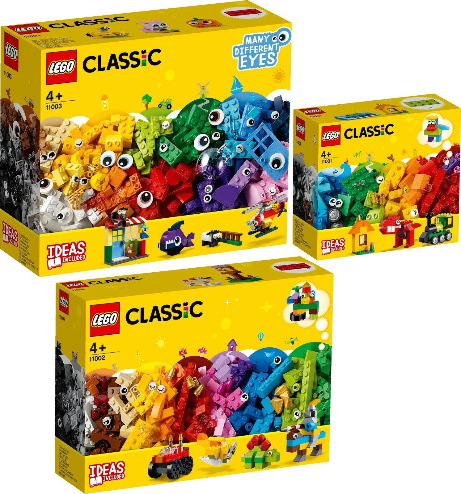 LEGO Classic 11003 11002 11001 Bausteine Witzige Figuren Bauspaß VORVERKAUF