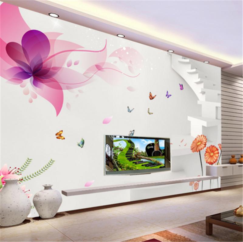 3D Flower Ladder 83 Wallpaper Mural Paper Wall Print Wallpaper Murals UK